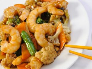 177. King Prawn with Mixed Vegetables