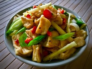 241. Tofu with Ginger & Spring Onion